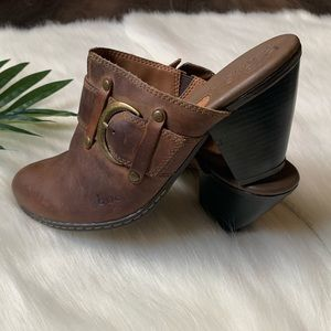 BOC by Born leather clog mules